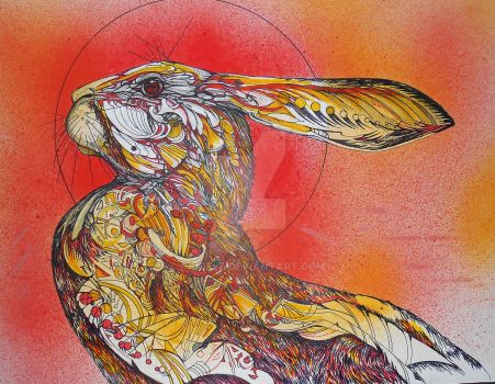 THE FIRE HARE FINISHED by Daicelf
