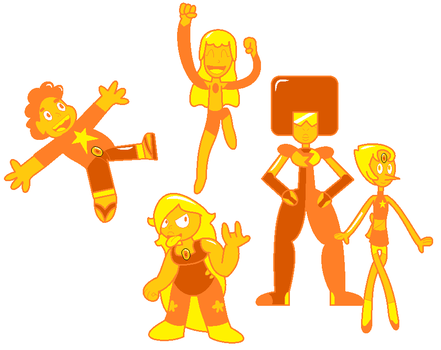 Steven Universe - Amber and the Ambers by LRpaul