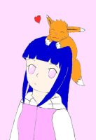 Hinata's Little Fox: Colored by xmizuwaterx