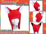 Red Aviator Fox Hat by AnimeNomNoms
