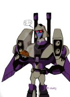 Blitzwing and Pie by DJ-MegaTron