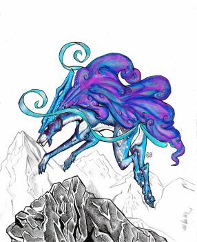 Realistic pokemon: suicune by SabreBash