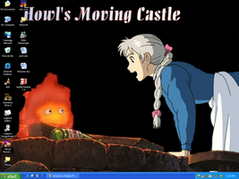 Howl's Moving Castle by loonylawnflamingo