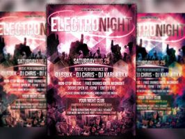 Electro Night Flyer by squizmo