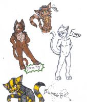Random Doodles For Cay by Lykaios-Garou