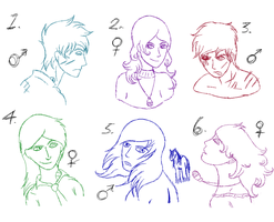 .+Human Sketch Adoptables 10-20 points!+. by KesiLegend