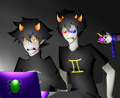 Karkat and Sollux Read My Immortal FA by Swiftspill