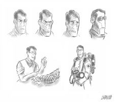 TF2 Medic Sketch by LabRatt123