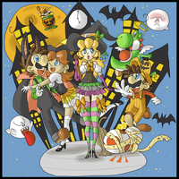 Super Halloween Bros. by Kyuujutsuka