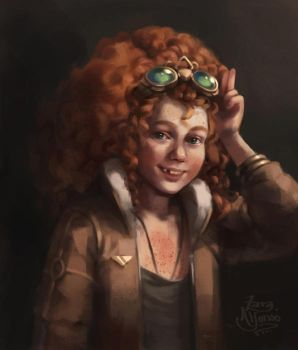 Aviator Portrait by ZaraAlfonso