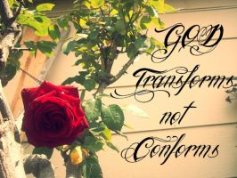 God Transforms not Conforms by deemoelester