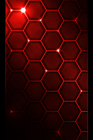 Red hexagon iPod theme by SystemicHysteria