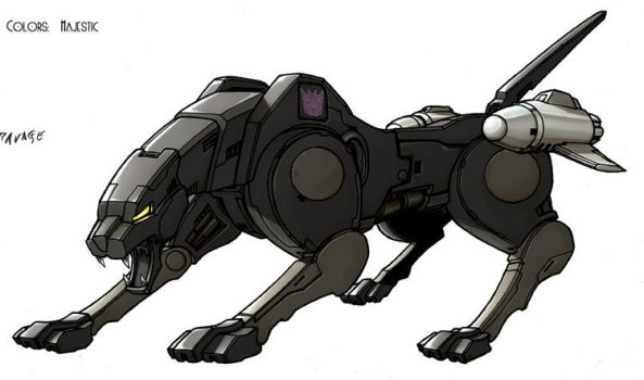 Transformers Ravage cat by VulnePro