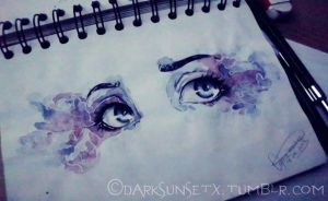 :#out of my Sketchbook: Those starry eyes... by xXxDarkSunsetxXx