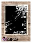 You and Me, Awesome Typography Print Poster by dontbemad