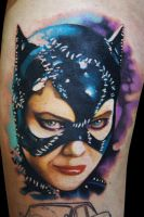 Catwoman by maximolutztattoo