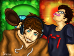Jacksepticeye and Markiplier by YumisaR