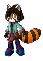 Anne the Red Panda by OrionTHedgehog