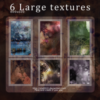 6 large Textures by Ola8910