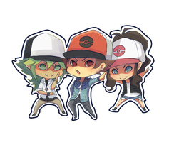 Unova Hat Trio by meixx