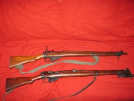 WWI and II Enfield rifles by vonmeer