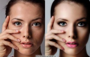 Photoshop retouch before and after by Nikos23a