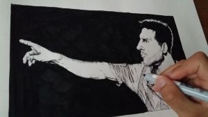 Drawing Lionel Messi by SamuelEliasYT