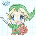 Colourful chibi Link by hyperactive-werewolf