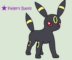Umbreon Base by Paige-the-unicorn