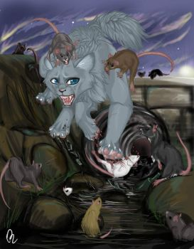 Bluestar and the Rats by pandabarrie