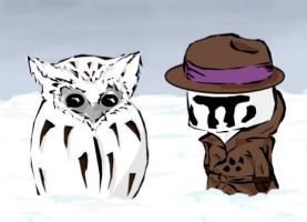 Nite Owl and Rorschach by byakugan2495