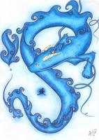 a water dragon by Sira123