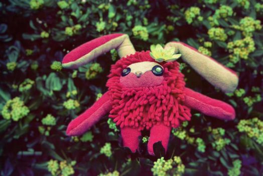 Pinky Rabbit plush by GhoulSoul