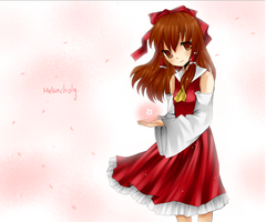 Melancholy Of Reimu Hakurei by mykyo