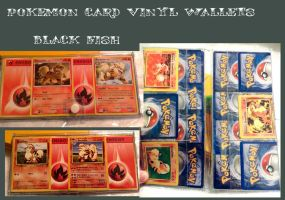 Pokemon card vinyl wallets: Growlithe and Arcanine by Sugar-Bot