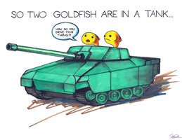 So Two Goldfish Are In a Tank... by arseniic