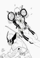 Wolverine And Deadpool Tribute by Aspiring-Mangaka