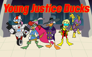 Darkwing Duck: Young Justice Ducks REDESIGN 2012 by Cartoonray