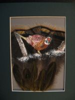 Pheasant Feather Painting by SpikedPyro