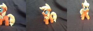 MLP FiM 7 inch handmade plush: Filly Applejack! by vulpinedesigns