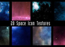 100x100 space textures by diebutterfliege