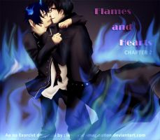 Flames and Hearts 02: Cover Page by lead-and-imagination