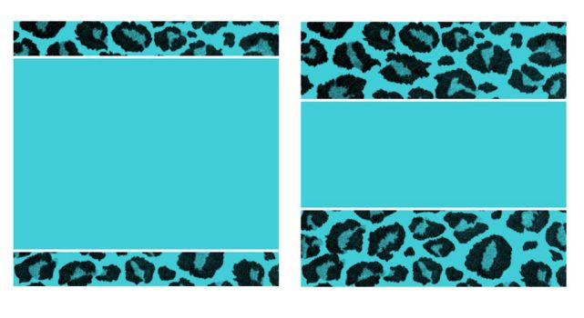 Blue and Black Leopard Paper and Business Card by StacyO