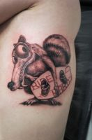 scrat with wakeboard by graynd