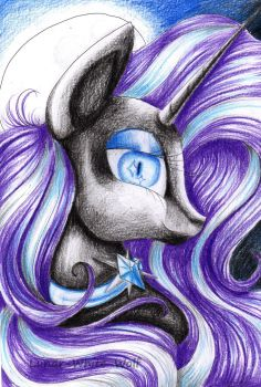 Nightmare Rarity by Lunar-White-Wolf
