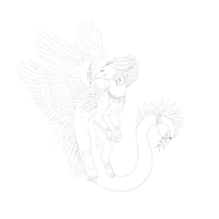 newer dragon-lineart by TheFurryRaveStar
