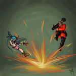 Rocket launcher battle! by MoriartaDragonheart