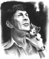 Leonard Nimoy by meilin-mao