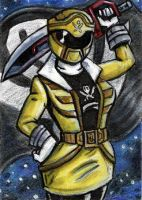 ACEO - Gokai Yellow by JRtheMonsterboy