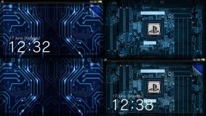 PS Vita Lockscreen and Wallpaper PSD Template by IntelRobbie